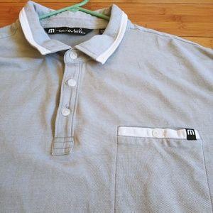 Travis Mathew Gray Golf Polo XXL Pocket